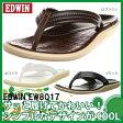 エドウィン EW8017 ブラック ダークブラウン ホワイト【サンダル 夏 メンズ シューズ】