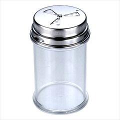 大中小の穴で分量調節ができる、中身の見える透明な調味料入れ!調味料入れ 調味料ふり 分量...