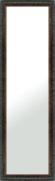 鏡 ミラー 壁掛け鏡 壁掛けミラー ウオールミラー:LZ5159 ブラック(フレームミラー 壁掛け 壁付け 姿見 姿見鏡 壁 おしゃれ エレガント 化粧鏡 アンティーク 玄関 玄関鏡 洗面所 トイレ 寝室 額 フレーム 額縁 )