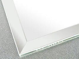 国産 スーパークリアーミラー (高透過 超透明鏡)(防湿 防錆加工)(5ミリ厚)(四角形)(15ミリ面取り加工) 鏡 ミラー 板鏡 カット サイズカット 特注:1219mmx1219mm(鏡板 ガラス鏡 鏡ガラス 洗面所 トイレ 洗面 洗面鏡 トイレ鏡 防錆 防湿 浴室):鏡 ミラー 洗面 インテリア IVY