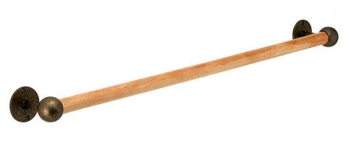タオルハンガー タオルかけ タオル掛け アイアン 真鍮 木製 木 ウッド アンティーク 洗面所 トイレ...