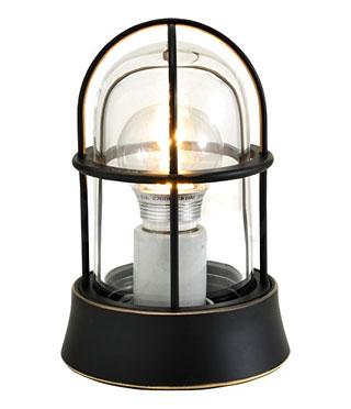 天井照明 LED 485lm (60W相当) 透明ガラス 照明器具 天井 天井灯 シーリングライト 天井ライトマリンライト マリンランプ 船舶 照明 北欧 アンティーク 真鍮 黒 ブラック