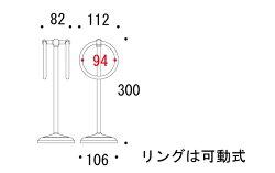 タオルハンガー・タオル掛け・タオルリング・スタンドタオルリング:クローム仕上げg-6g4040k8