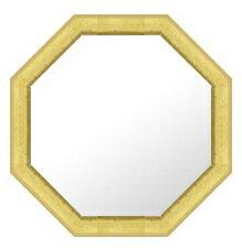 【送料無料】八角 八角形 オクタゴン 鏡 ミラー 壁掛け鏡 壁掛けミラー ウオールミラー フレー...