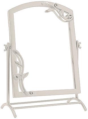 鏡 ミラー 卓上鏡 卓上ミラー スタンドミラー ミラースタンド スタンド メーキャップミラー 化粧鏡 コスメミラー:NaA-22r7(アンティークホワイト):鏡 ミラー 洗面 インテリア IVY