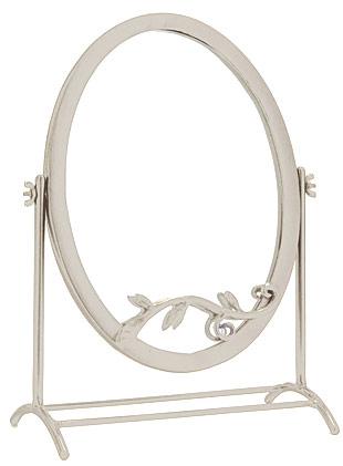 鏡 ミラー 卓上鏡 卓上ミラー スタンドミラー ミラースタンド スタンド メーキャップミラー 化粧鏡 コスメミラー:NaA-22r9(アンティークホワイト):鏡 ミラー 洗面 インテリア IVY
