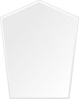 洗面鏡 浴室鏡 トイレ鏡 化粧鏡 日本製 高透過 超透明鏡 ファンシーブリット 400mm×500mm スーパークリアーミラー クリスタルカット 国産 フレームレスミラー 風呂 鏡 壁掛け鏡 壁掛けミラー ウオールミラー 姿見 姿見鏡 ミラー