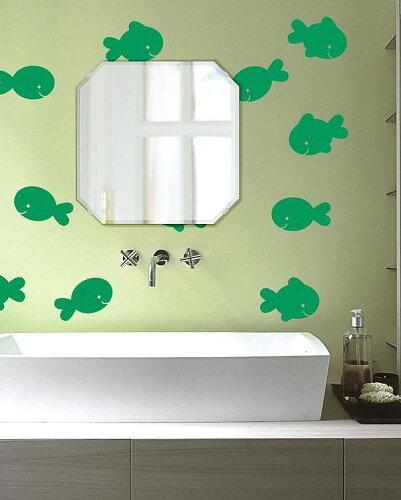 トイレ鏡 洗面鏡 化粧鏡 浴室鏡 クリスタルミラー シリーズ:cdx-squareemerald450x450-9mm(スク...
