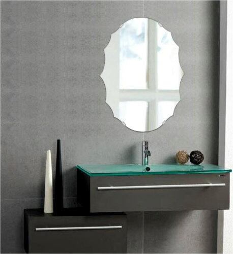 トイレ鏡 洗面鏡 化粧鏡 浴室鏡 クリスタルミラー シリーズ クリアーミラー シンプルタイプ クレス...