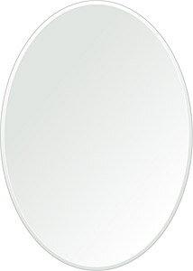 鏡 壁掛け 鏡 ミラー 日本製 楕円形 鏡 500mm×700mm クリアーミラー クリスタルカット 国産 フレームレスミラー 壁掛け鏡 壁掛けミラー ウォールミラー 姿見 姿見鏡 インテリアミラー (リビング、玄関、廊下、寝室など一般空間用)