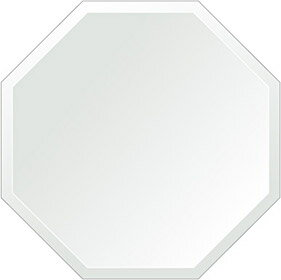鏡 壁掛け 鏡 ミラー 日本製 正八角形 鏡 600mm×600mm クリアーミラー デラックスカット 国産 フレームレスミラー 壁掛け鏡 壁掛けミラー ウォールミラー 姿見 姿見鏡 インテリアミラー (リビング、玄関、廊下、寝室など一般空間用)
