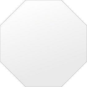 鏡 壁掛け 鏡 ミラー 日本製 高透過 超透明鏡 正八角形 鏡 550mm×550mm スーパークリアーミラー シンプルタイプ 国産 フレームレスミラー 壁掛け鏡 壁掛けミラー ウォールミラー 姿見 姿見鏡 インテリアミラー (リビング、玄関、廊下、寝室など一般空間用)