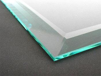 ガラス 板ガラス(長方形 正方形)国産の硝子 板硝子(板厚6ミリ) 超幅広面取り加工(面取り幅約18ミリ)