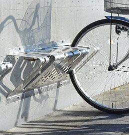 サイクルスタンド ステンレス 壁付け 2台 用 日本製 自転車スタンド 屋外 自転車 スタンド 自転車 自転車ラック サイクルラック 駐輪場 スタンド 固定式 固定タイプ アイアン 金属 鉄 国産 壁 壁面 コンクリート (銀 銀色 シルバー)