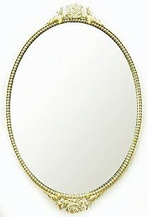 円形 オーバル の 鏡 ミラー 壁掛け鏡 壁掛けミラー ウオールミラー:エレガンス a-2935n(フレー...