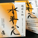 馬面照栄堂水ようかんセット3枚入り17-4福井 お土産(おみ...