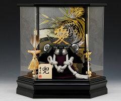 五月人形 佳月 K-129 直江兼続公 コンパクト 兜ケース飾り 兜飾り 兜 六角ケース アク…