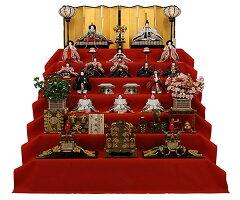 雛人形 ひな人形 7段飾り 京都西陣帯 京雛 121 【1つ1つ 手作り 人形の佳月 】