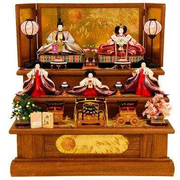 雛人形 K14【ひな人形】【佳月】【かげつ】【佳月オリジナル】【送料無料】【京都西陣帯】【3段飾り】【高級品】K14