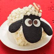 ホワイト キャラクター ショーンケーキ クリームロールケーキ スイーツ クッキー