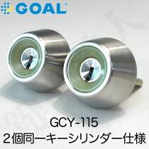 GOAL・PXV,TDD用D9ディンプルシリンダー玄関鍵(カギ)交換取替え2個同一キータイプ
