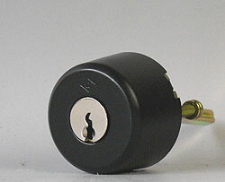 (5) ALPHA 玄関錠フローレンスの鍵(カギ) 交換 取替え用シリンダー(従来品・ブラック色)■標準キー3本付き■