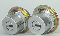 (1) MUL-T-LOCK LIX用 玄関 鍵(カギ) 交換 取替えシリンダー・2個同一キーセット■標準キー3本+合...