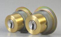 WESTリプレイスシリンダーLIX用交換シリンダー・2個同一キーセットゴールド色