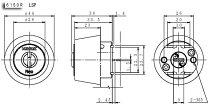 (2)KABASTARNEO(カバスター・ネオ)LSP用交換シリンダー・2個同一キーセット