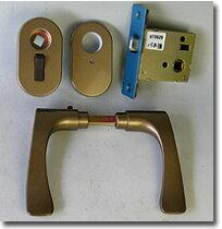 (3)LY-4AU80Aスイッチ型施解錠ボタン付GOAL(ゴ-ル)レバーハンドル室内錠【トイレ錠・浴室錠】【バックセット】