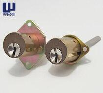 (1)+(2)WESTリプレイスシリンダー・飾り錠タイプ交換シリンダー