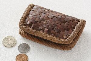 さくらの小銭入れ(長方形) ※ふちは東北のやまぶどう皮を使用しています。 (約)幅12×高さ7.5×...