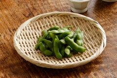 ふだん使い、干し野菜にも便利です特選 丸盆ざる(竹ざる 水切りザル) 直径約21cm