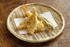 ふだん使い、干し野菜にも便利です特選 丸盆ざる (竹ざる 水切りザル) 直径約24cm