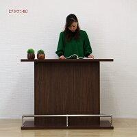 バーカウンターバーカウンターテーブル幅120高91ホームバーハイカウンター間仕切り完成品日本製キッチン収納送料無料楽天通販【05P05Dec15】
