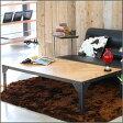 テーブル 140 ブラック 黒 センターテーブル ローテーブル カフェテーブル 天然木 オーク アイアン テーブル アンティーク ヴィンテージ 大型 140cm スチール クール アイアンフレーム 鉄製 dis