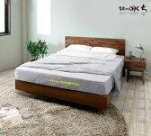 ウォールナット材・ホワイトオーク材のベッドフレーム天然木無垢材・突き板仕様 木製2素材から選べますセラウッド塗装仕上げ 送料無料 木製フレーム