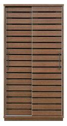 ダイニングボード食器棚スライド引き戸・天然木ウォールナット・スライドカウンター