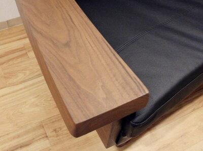 アカセ木工天然木ウォールナット無垢材本革張り合皮ファブリック布張りカバーリング北欧日本製国産