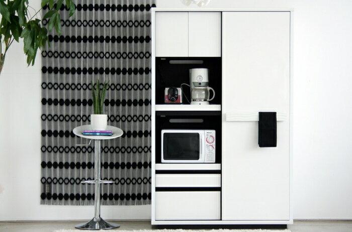 【開梱設置配送】 送料込 幅118cm 日本製 家具 キッチンボード 憧れのキッチン空間をつくるならこれですよ! 白を基調に随所にこだわりの造りがあります キッチンを美しく綺麗にします キッチンボード 完成品(上下重ねタイプ):オレンジインテリア