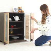 キッチンキャビネットキッチン収納食器棚送料無料北欧モダン