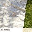 北欧 Six Rabbits カーテン 100×178 2枚組