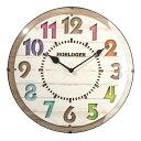 【ポイント10倍】 時計 壁掛け 電波時計 クロック 掛け時計 掛時計 壁掛け時計 壁掛時計 アナログ 丸型 文字盤 木目調 子供部屋 リビング ギフト 贈り物 祝い かわいい キッズ 子ども ブラウン プレゼント 送料無料 北欧 おしゃれ