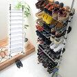 シューズラック 送料無料 つっぱり スリム 伸縮 省 スペース スチール 30cm すきま 玄関収納 ブーツ 靴 くつ 傘 スリッパラック 下駄箱 シューズボックス 靴箱 スタンド 薄型壁面収納 おしゃれ