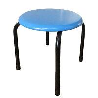 【送料無料】丸いすロータイプ(完成品)高さ30cm低床タイプ(青・赤・黒・緑・茶)日本製丸イス丸椅子スツールパイプイス
