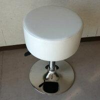 厚いクッションカウンターチェアーロータイプホワイト(2014年春の新製品)【あす楽対応】丸椅子バーチェアハイチェア昇降カウンターチェアバーチェアー回転チェアーハイチェアー白