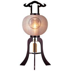 絹張行灯ワイン無地11号木製風鎮付電気式