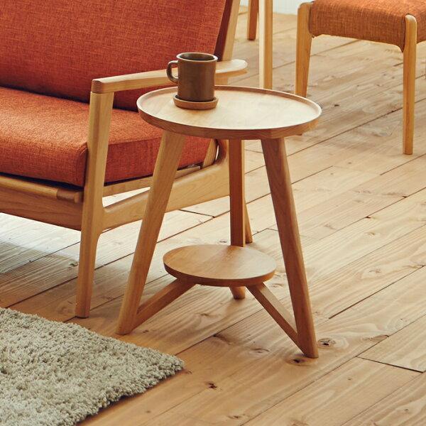 ビッツΦ40サイドテーブル丸まるかわいい可愛いアルダー材北欧ノルディックナチュラル無垢材ソファテーブルローテーブル