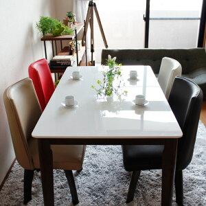 ダイニングセット5点パラダイス|ダイニングテーブル5点セットホワイト鏡面ダイニングテーブルセット回転椅子白鏡面テーブル木製天然木無垢カフェカフェ風モダンおしゃれ送料無料02P08Feb15
