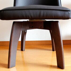 ダイニングチェア回転2脚セットエスプレッソ|ダイニングチェアー回転式カフェカフェ風レザーおしゃれカラフルダイニング椅子イスダイニングチェア2脚セット送料無料単品北欧木製無垢家具団地